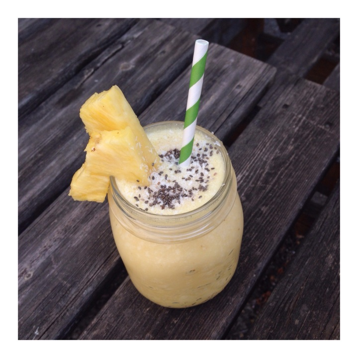 Frozen Pineapple Coconut Smoothie